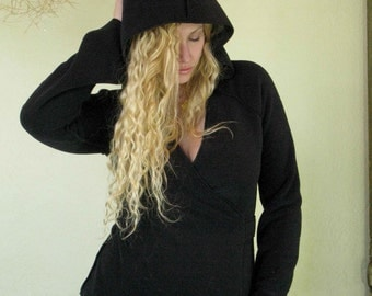 SALE || Eco Fleece || Wrap Hoody || High Fashion || Coziness