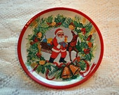 3 Meister Tin Vintage Christmas Coasters or Children's Dishes