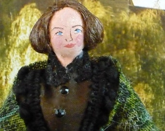 Jane Eyre Doll Miniature Art Collectible Charlotte Bronte