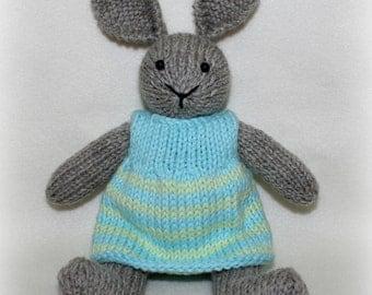 Lily, a handknit wool rabbit