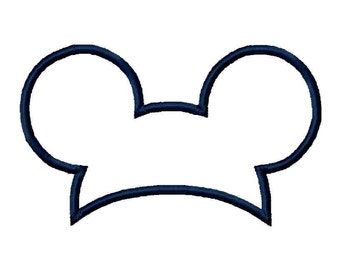 INSTANT Download - Mouse Ears hat applique and fill, digital machine embroidery design