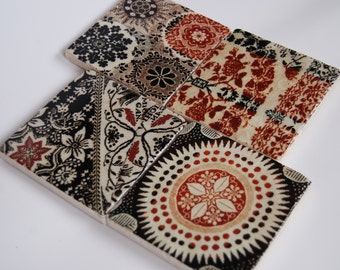 Stitched Tapestry coaster set
