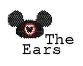 Mickey Mouse Ears Walt Disney World Disneyland Inspired Beaded Ornament Charm Digital PDF Pattern Peyote or Brick Stitch