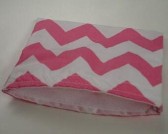 Hot Pink Chevron Reusable Snack Bag Ready to Ship