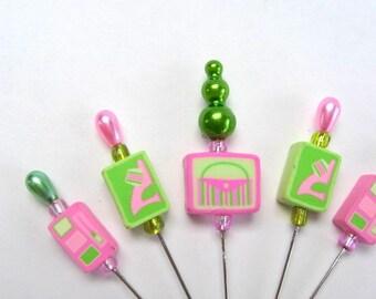 SHOP CLOSING SALE - Girl Stuff - Decorative Stick Pins - Set Of 5