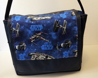 Star Wars Millenium Falcon Leather Messenger Bag