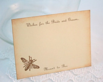 Bee Wish Jar Cards Wedding Shower Bridal Shower Meant to bee Set of 10