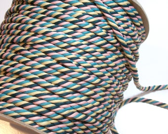 Multicolor Rope Cording Sewing Trim 1/4 inch wide x 10 Yards, Pink, Green, Yellow Cord