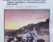 Clymer Kawasaki VN800 Vulcan Vulcan Classic 1995 1998 Motorcycle Repair Manual