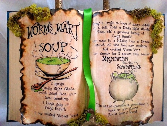 Nightmare before christmas sally recipe worms wart soup spell