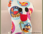Toothykins the Tooth Fairy Pillow- Blue Pirates