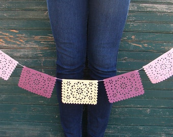 Wool Felt Doily Bunting  - Set of 5 - Great for All Kinds of Parties