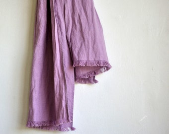 Light pink orchid color linen scarf