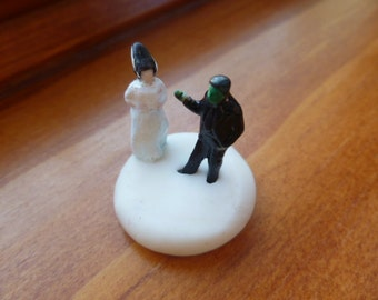 Frankenstein's Monster and Bride of Frankenstein HO Scale Altered Model Train Figures Perfect for Planter or Terrariums