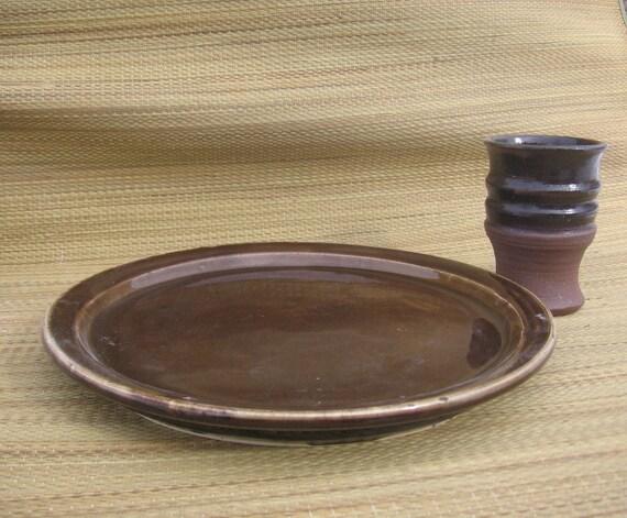 Beautiful Warm Brown Plate
