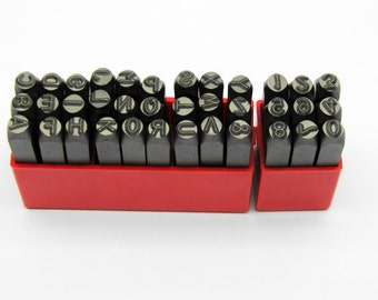 Premium Number & Letter Metal Punch - Stamp 6mm 36 Piece Set - CRV Steel