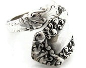 Spoon Ring, Demitasse Size 3-  8 Berkshire Wrapped