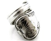 Kings Pattern Size 8 Wrapped Spoon Ring