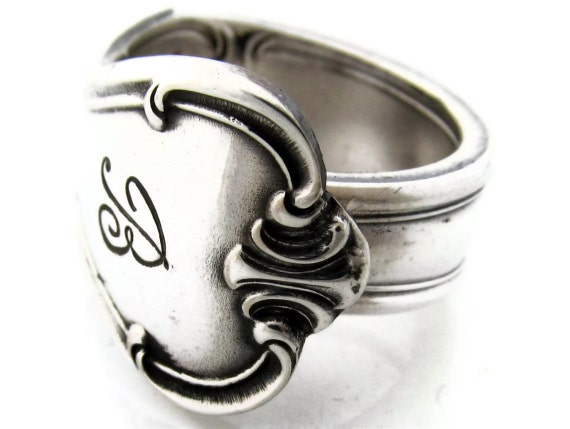Size 10 Signature Spoon Ring With B Monogram 1950
