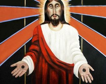Come Giclee print poster Jesus God Holy Spirit Christian Art Anthony Falbo
