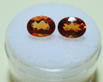 CITRINE - Brazilian Madeira - NOT Matched - 8x6 Oval - Parcel of 2 - Item GEM114010
