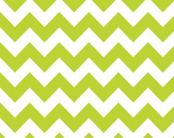 Riley Blake Chevron Lime Flannel Fabric, 1 yard