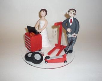 Custom cartoom caricatures wedding cake topper