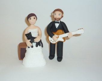 Custom bride and groom caricatures made to order - guitar samples
