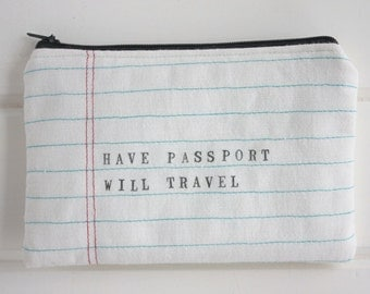 Have Passport Will Travel Pouch