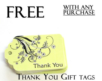 FREE  Please read description, Thank You Gift Tags with any purchase, Set of 12, code 3030-03