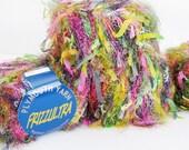 FRIZZULTRA YARN Destash Yarn Lime Green Golden Yelow Pink Black Color 106 Knitting Yarn