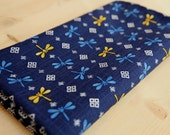 3266 - Japanese Dragonfly Slubbed Cotton Fabric - 43 Inch (Width) x 1/2 Yard (Length)