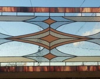"""Stained glass window - """"Bronze Shine"""" (W-41)"""