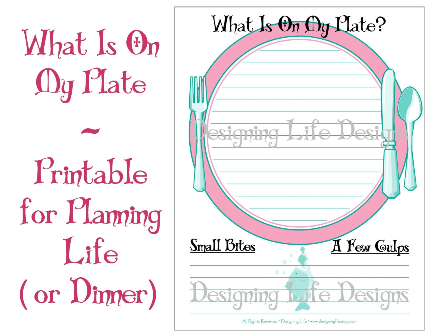 To do list printable page what is on my plate zoom pronofoot35fo Choice Image