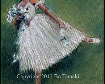 A signed , 5 x 7 Swan Lake Dancer archival print matted to an 8 1/2 x 11