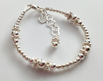 Sterling Silver Bracelet, Baby, child and mom