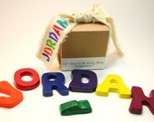 FaT CRaYoNs by DuSTy MoOn PERSONALIZED 7 Jumbo Name Crayola Crayons in Primary Colors for BOYS