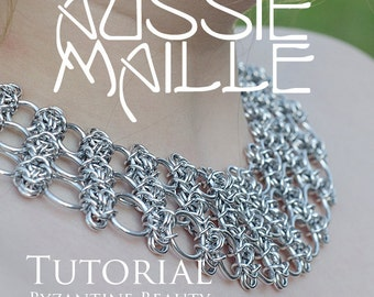 Chainmaille Tutorial - Byzantine Beauty Neck Piece