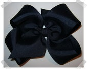 X-Large KING Size Grosgrain Hair Bow in Navy Blue