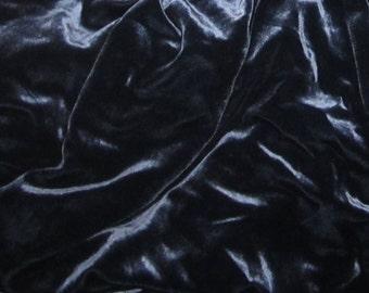 OCEAN BLUE Silk Velvet Fabric - 1 Yard