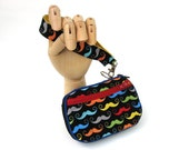 End of year sale Mustaches Zip Around Wristlet Wallet Ready to Ship