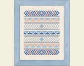 Lovely Tribal Counted Cross Stitch Pattern. PDF File