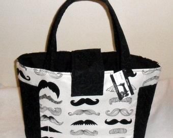 Large Where's My Stache Mustache Diaper Bag Tote NEW PRINT