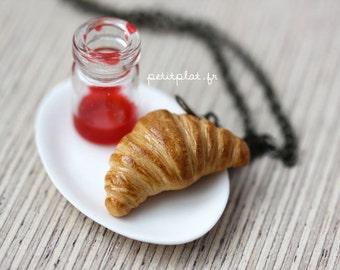 Croissant Necklace - Food Jewelry - Paris Collection