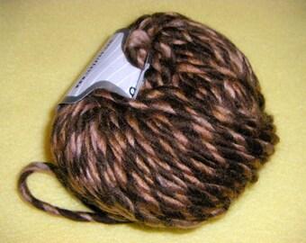 Three Skeins Chocolate Caramel Twist Wool Blend Yarn by Ice Yarns