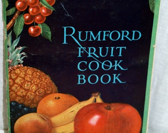 Rumford Fruit Cook Book cookbook 1920s