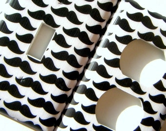 Moustaches Light Switch Cover Outlet Cover Switchplate