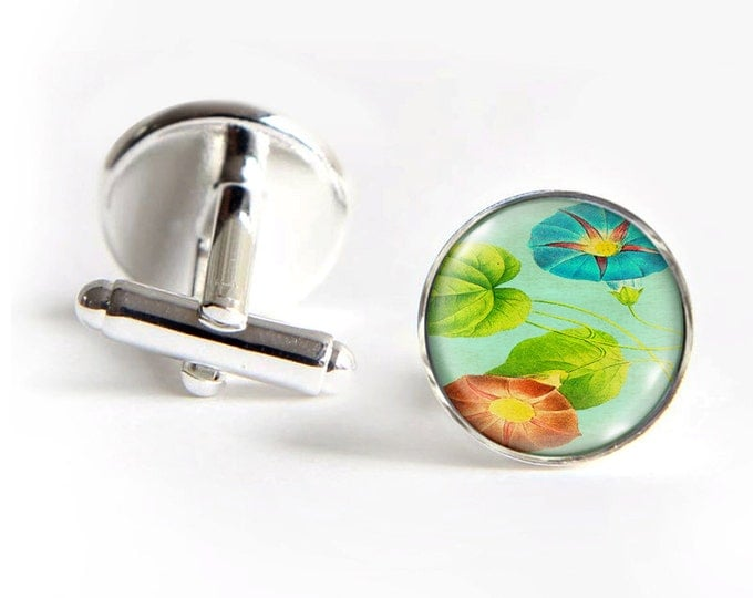 MORNING GLORY Cufflinks silver 18mm cuff links