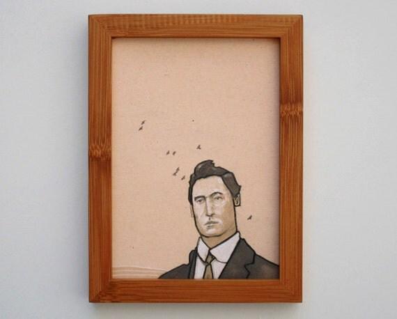 framed portrait giclee print 5x7