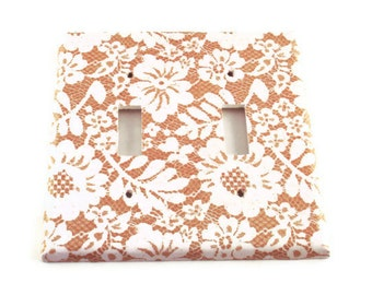 Light Switch Cover Wall Decor Double Light Switchplate Switch Plate in  Chantilly  (199D)